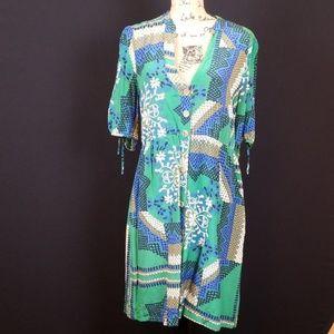 Anthro Moulinette Soeurs green dress  Rk:7:419